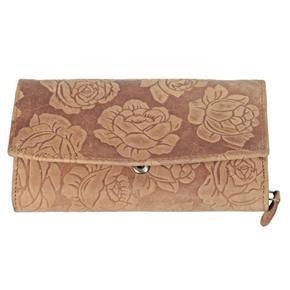 Dámská luxusní kožená peněženka Kevin sv. hnědá