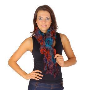 Oranžový zimní šátek Valery E4