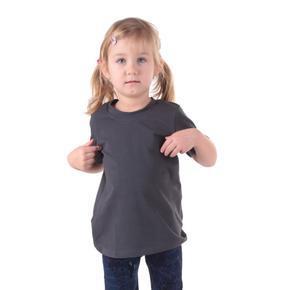 Šedé dětské tričko krátký rukáv Laura od 98-116