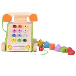 Multifunkční dřevěný telefon Lolek