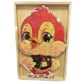 Dětské dřevěné puzzle Ptáček