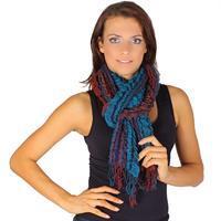 Oranžový zimní šátek Karolin C1