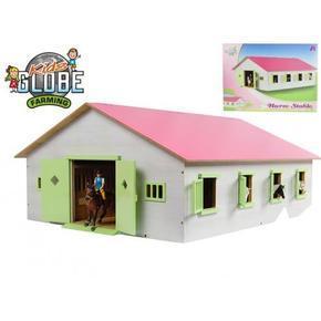 Dřevěná stáj pro koně 1:32 růžová Veris