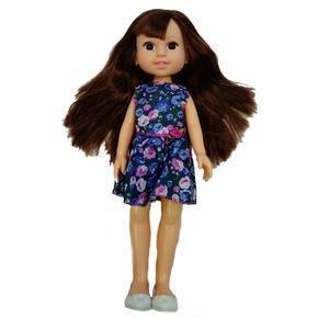 Panenka s dlouhými vlasy Elaine modrá