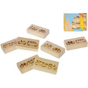 Dřevěné domino auta 12ks