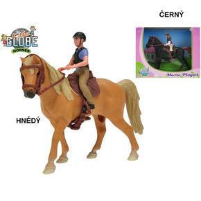 Koník s jezdcem 13cm Scarlet
