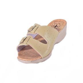 Dámské béžové páskové pantofle Monic