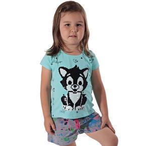 Přeměňovací dětské tričko Darling zelené