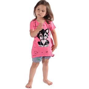 Přeměňovací dětské tričko Micka růžové