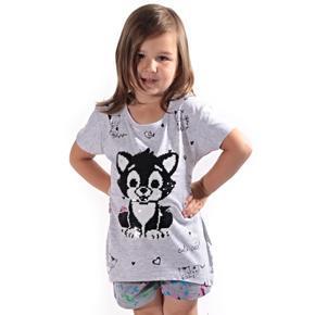 Přeměňovací dětské tričko Micka šedé