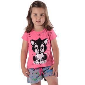 Přeměňovací dětské tričko Darling růžové
