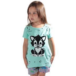 Přeměňovací dětské tričko Micka zelené