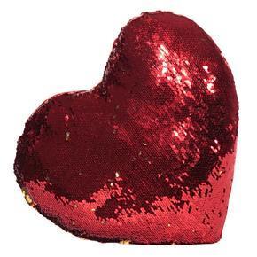 Plyšový měnící polštář srdce Love
