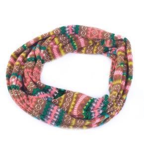 Zelený šátek Pegy s norským vzorem E5