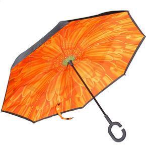 Obrácený deštník Ella oranžový