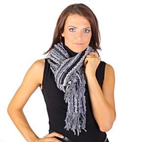 Luxusní černý šátek Karolin C1