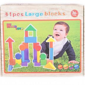 Dřevěná stavebnice wood toys Look