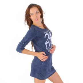 Dlouhá modrá tunika Inesa