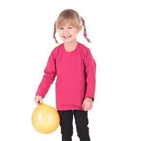 Růžové dětské tričko dlouhý rukáv Marlen od 98-116