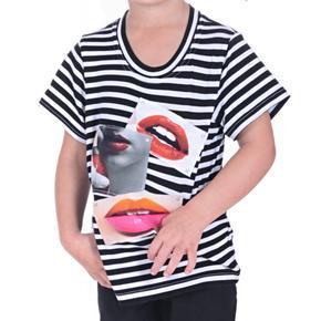 Pruhované tričko s pusinkama Selest od 98-116