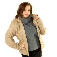 Jarní koženková bunda Thiery krémová
