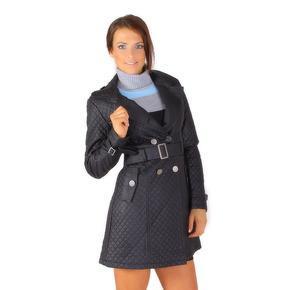 Moderní koženkový kabát Dasty