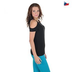 Spanky černé tričko s krátkým rukávem