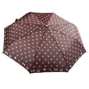 Skládací deštník Knoflík hnědý