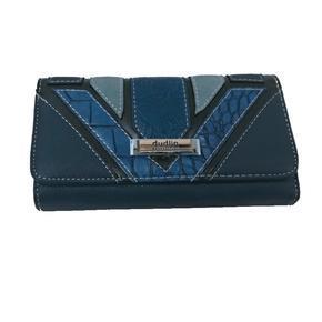 Modrá luxusní dámská peněženka Ellini