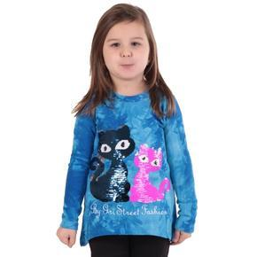 Měnící dívčí tričko Malibu modré
