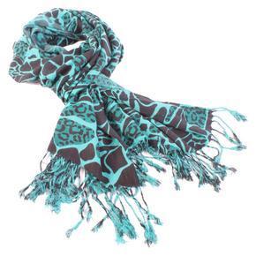 Šíroký zelený šátek Nena C2