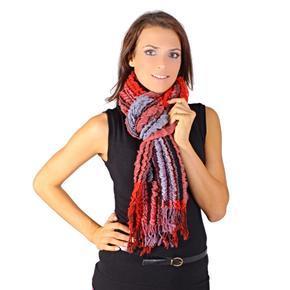 Zimní šátek Karolin červený C1