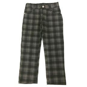 Dívčí kostkované hnědé kalhoty Sandra - 128