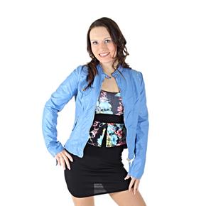 Koženková bunda Sophie modrá