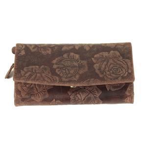 Dámská luxusní kožená peněženka Kevin tm. hnědá