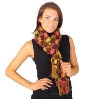 Moderní zimní šátek Mett žlutý C5