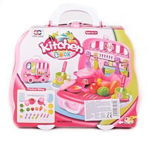 Kuchyňský kufřík Bela pro holky růžový