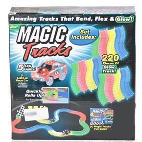 Svítící autodráha Magic Tracks 220 dílků