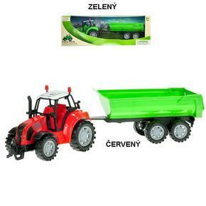 Traktor na setrvačník s vlečkou 34cm Holan