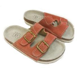 Dětské korkové pantofle Blanka oranžové - 31