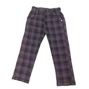 Dívčí kostkované fialové kalhoty Mona - 92
