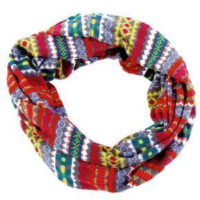 Vzorovaný úpletový šátek Pegy žlutý E5