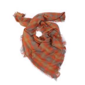 Kostkovaný šátek Megan hnědý C4