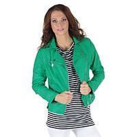 Zelená koženková bunda Minnet
