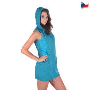Sportovní dámské šaty Blue s kapucí