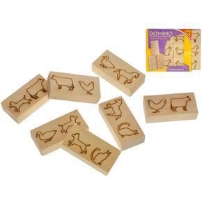 Dřevěné domino zvířátka 12ks