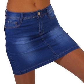 Riflová sukně Ricce modrá