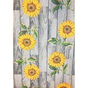 Gumová koupelnová rohož 65cm Slunečnice šedá