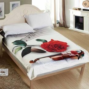 Beránková deka s 3D efektem Růže