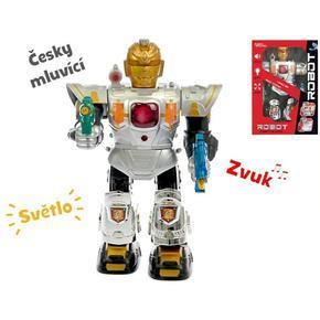 Česky mluvící chodící robot 36cm Mateo